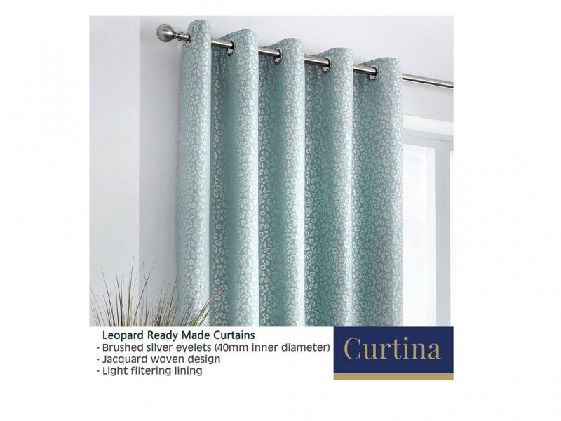 Curtina Leopard Duckegg Eyelet Curtains and Cushions
