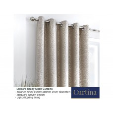 Curtina Leopard Stone Eyelet Curtains and Cushions