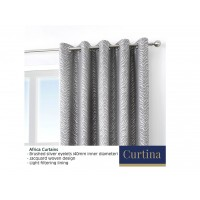 Curtina Africa Graphite Eyelet Curtains and Cushions