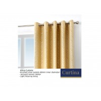 Curtina Africa Ochre Eyelet Curtains and Cushions