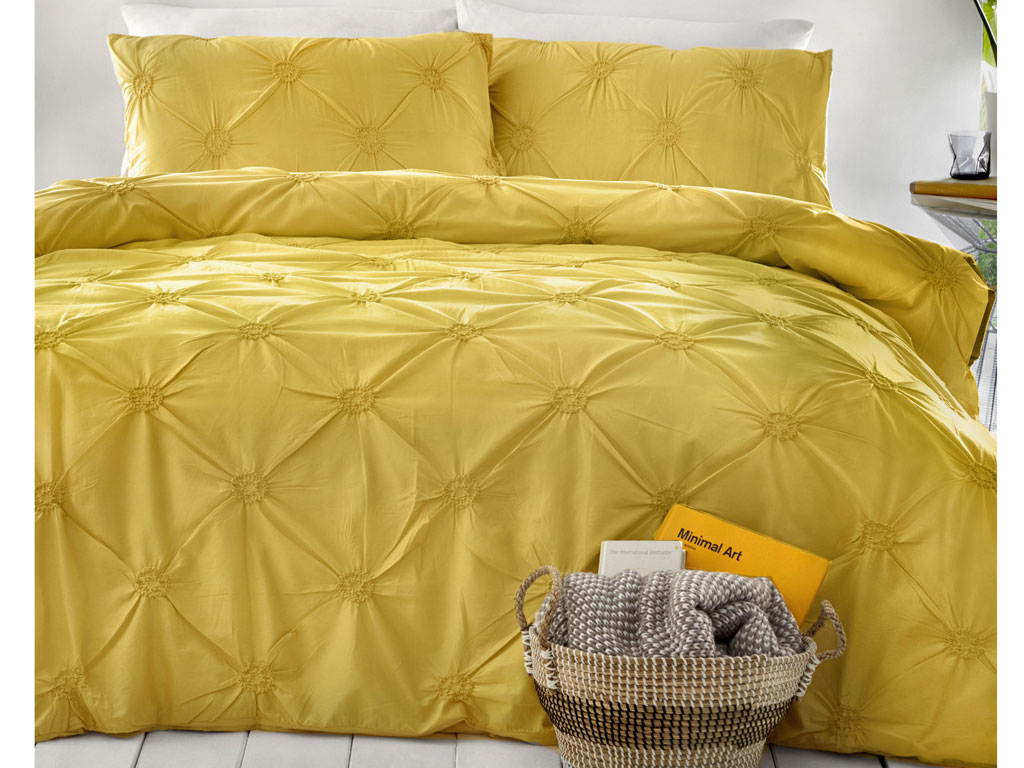 Signature Elissa Ochre Duvet Cover Sets