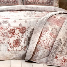 Dreams n Drapes Jakarta Blush Quilted Bedspread