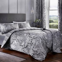 Dreams n Drapes Maduri Black Duvet Cover Sets