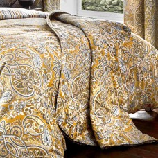 Dreams n Drapes Maduri Ochre Quilted Bedspread