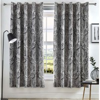 Dreams n Drapes Maduri Black Eyelet Curtains