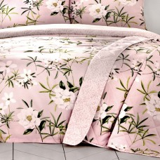 Dreams n Drapes Florence Blush Quilted Bedspread