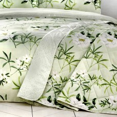 Dreams n Drapes Florence Green Quilted Bedspread