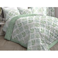 Dreams n Drapes Emily Green Quilted Bedspread