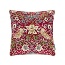 Morris & Co New Strawberry Thief Crimson/Slate Cushion