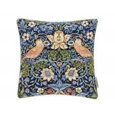 Morris & Co New Strawberry Thief Indigo/Mineral Cushion