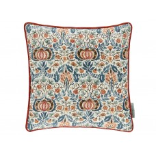 Morris & Co New Little Chintz Teal/Saffron Cushion