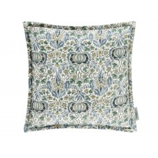 Morris & Co New Little Chintz Slate Blue/Fennel Cushion