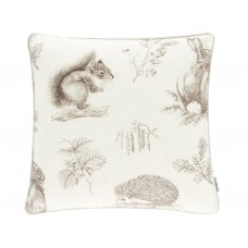 Sanderson New Squirrel & Hedgehog Cushion