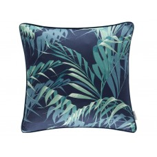 Sanderson New The Glasshouse Palm House Ink/Teal Cushion