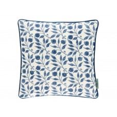 Morris & Co New Rosehip Indigo Cushion