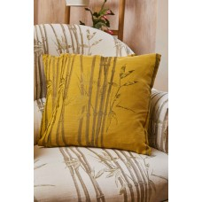 The Chateau by Angel Strawbridge Bamboo Filled Ochre Cushion