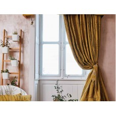 The Chateau by Angel Strawbridge Bamboo Curtains & Tie Backs Ochre