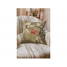 The Chateau by Angel Strawbridge Blossom and Butterfly Filled Basil Cushion