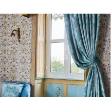 The Chateau by Angel Strawbridge Deco Heron Curtain Pairs & Tie Backs Teal