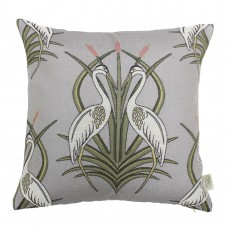 The Chateau by Angel Strawbridge Heron On The Moat Filled Cushion Grey