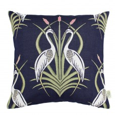 The Chateau by Angel Strawbridge Heron On The Moat Filled Cushion Navy