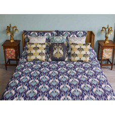 The Chateau by Angel Strawbridge Heron on The Moat Duvet Cover Sets Navy