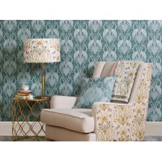 The Chateau by Angel Strawbridge Deco Heron 10 Metre Wallpaper Teal