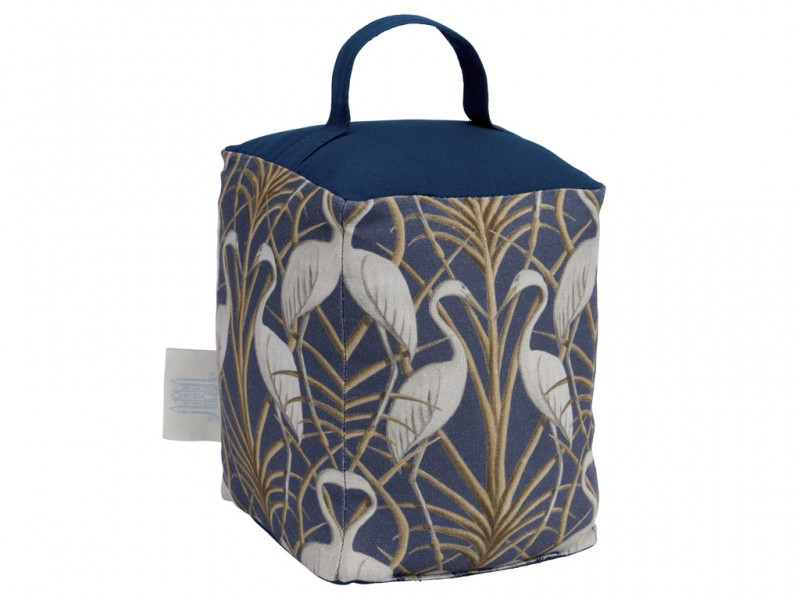 The Chateau by Angel Strawbridge Nouveau Heron Navy Doorstop
