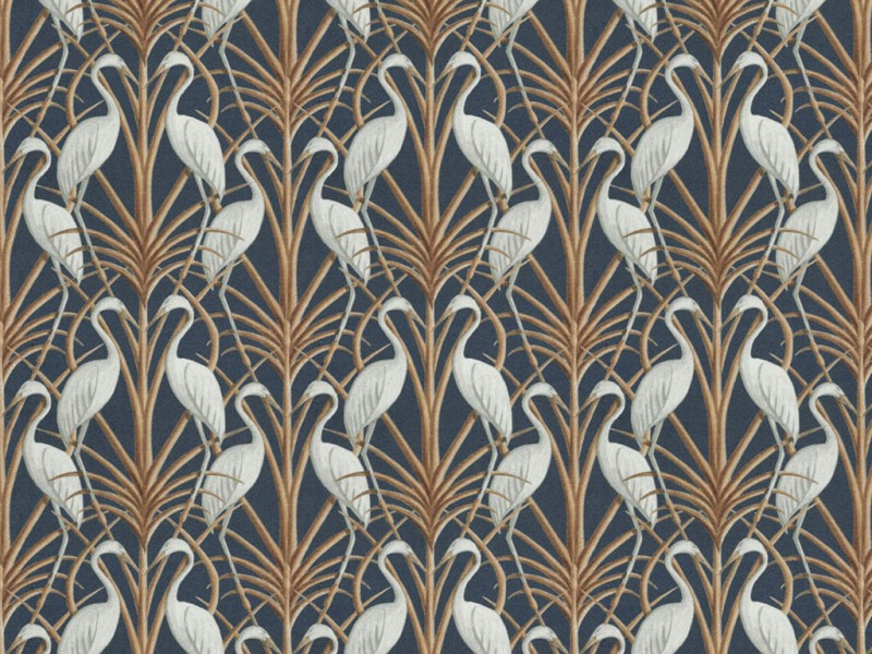 The Chateau by Angel Strawbridge Nouveau Heron Navy Fabric by The Meter