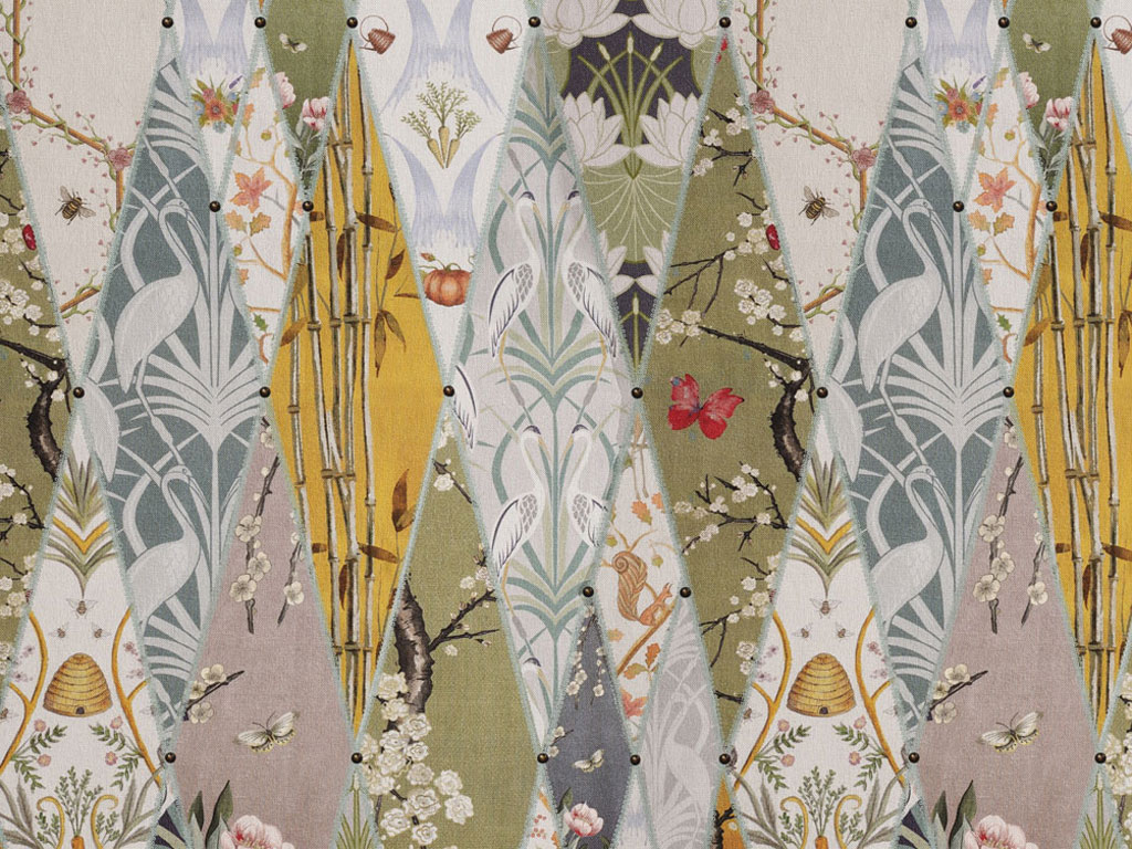 The Chateau by Angel Strawbridge Nouveau Wallpaper Fabric by The Meter