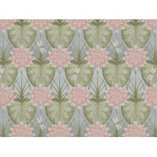 The Chateau by Angel Strawbridge The Lily Garden Eau De Nil Fabric by The Meter