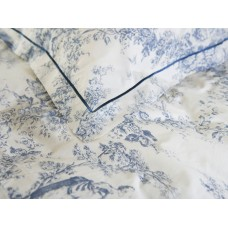 Toile De Jouy Antique Blue Pillowcases