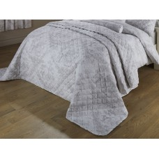 Toile De Jouy Antique Grey Quilted Bedspreads