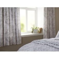 Toile De Jouy Antique Grey Lined Curtains