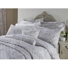 Toile De Jouy Antique Grey Quilted Pillow Shams