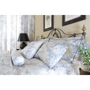 Toile De Jouy China Blue Duvet Covers