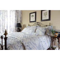 Toile De Jouy China Blue Bedlinen and Coordinates