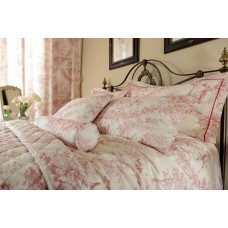Toile De Jouy Antique Red Duvet Covers