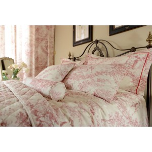 Toile De Jouy Antique Pink Duvet Covers