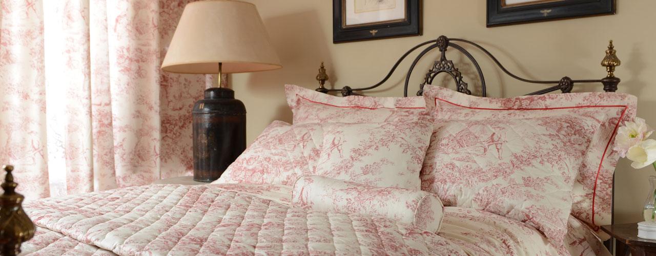 Toile De Jouy Antique Pink Bedlinen