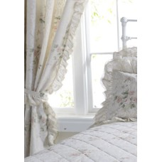 Vantona Charlotte Peach Unlined Curtains with Tie Backs