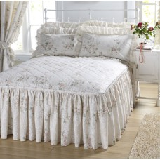 Vantona Charlotte Peach Floral Fitted Bedspreads