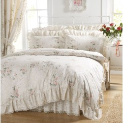 Vantona Charlotte Peach Duvet Cover Sets and Coordinates