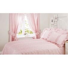 Vantona Monique Pink Unlined Curtains with Tie Backs