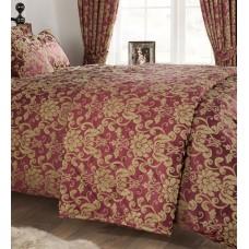 Vantona Como Berry Quilted Bedspread / Throw