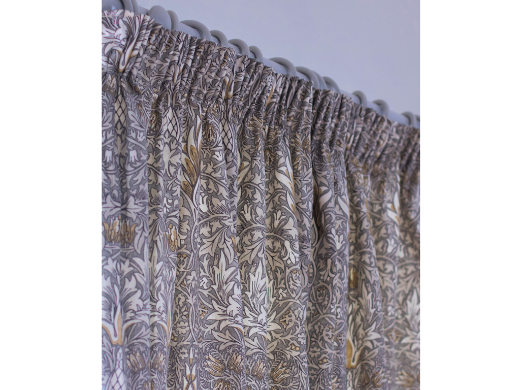 William Morris Snakeshead Pewter Lined Curtain Pairs